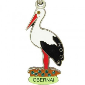 Obernais Storch-Schlüsselanhänger mit Strass