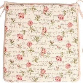 Galette de Chaise motif Rose en Fleurs en Tapisserie