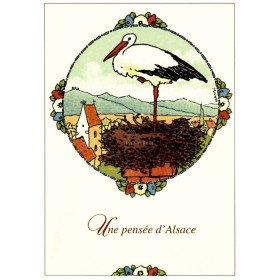 Hansi Une Pensée d'Alsace Postkarte
