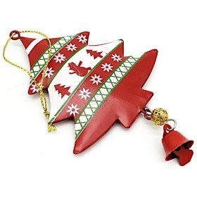Sapin à suspendre en Métal rouge décor Noël