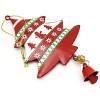 Weihnachtsbaum zum Aufhängen in rotem Metall