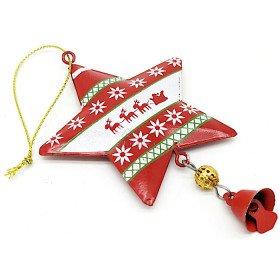 Etoile à suspendre en Métal rouge décor Noël