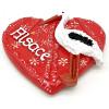 Dekorativer Magnet Rotes Herz Elsass mit Storch