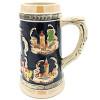 Chope à Bière droite en Faience décor Villes d'Alsace 50 cl