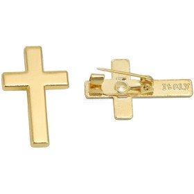 Gold Metall Fancy Brosche Kreuz in La Boite aux Trésors in Obernai