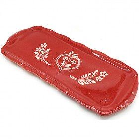 Plat à Cake Soufflenheim rouge Coeur La Boite aux Trésors à Obernai