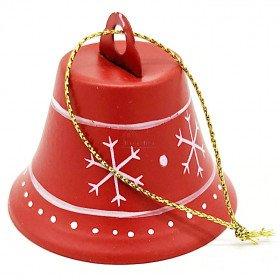 Hängeglocke aus rotem Metall Weihnachtsdekor