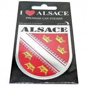 Adhésif Sticker Auto Premium Auto Ecusson d'Alsace