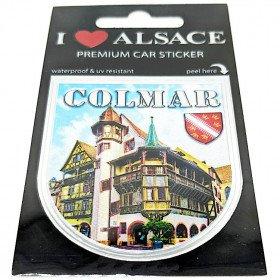 Selbstklebender Aufkleber Auto Premium Auto Fassade von Colmar
