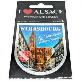 Selbstklebender Aufkleber Auto Premium Auto Kathedrale Notre-Dame Straßburg
