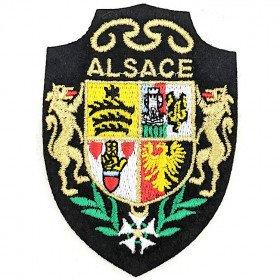 Wappen Aufnäher Elsass mit Löwe zum Aufbügeln