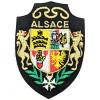 Écusson emblème Armoiries d'Alsace avec Lion à thermocoller