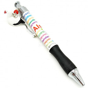 Kugelschreiber dick Motiv Alsace mit Storchhänger in La Boite aux Trésors in