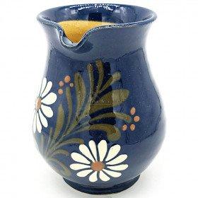 Pichet à Vin 25 cl Bleu de Soufflenheim Marguerite La Boite aux Trésors à Obernai