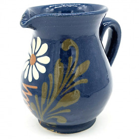 Pichet à Vin 50 cl Bleu de Soufflenheim Marguerite
