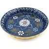 Plat à Tourte 30 cm Bleu de Soufflenheim Marguerite