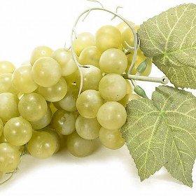 Künstliche weiße Weintrauben 25 cm