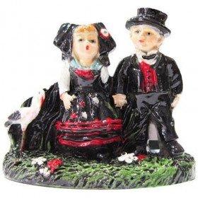 Decorative Magnet Alsatian Couple and Stork