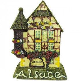 Magnet Décoratif Maison d'Alsace à Colombage et Tourelle