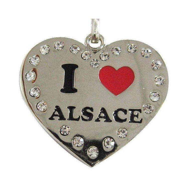 Retrouvez Porte Clé Coeur Brillant Alsace et Strass à Obernai