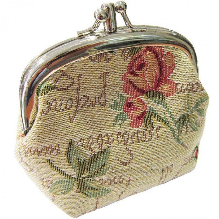 Retrouvez Porte Monnaie motif Rose en Fleurs en Tapisserie à Obernai