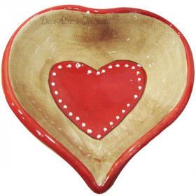 Keramisches Cup Dekoration Herzen Elsass