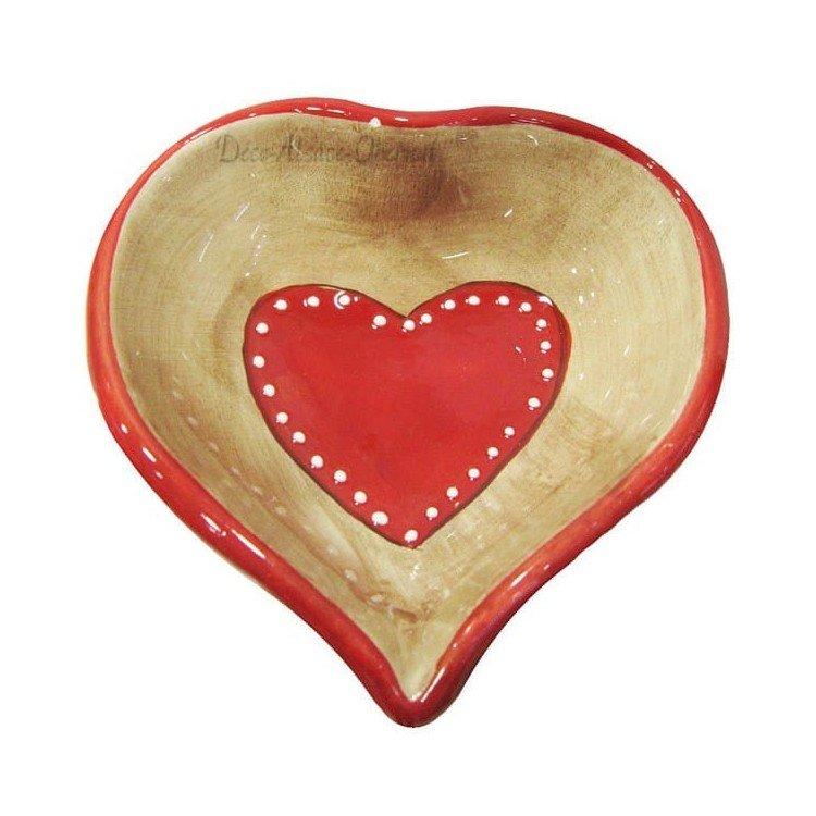 Coupelle en Céramique décor Coeurs d'Alsace à La Boite aux Trésors à Obernai