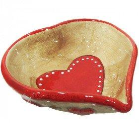 Coupelle en Céramique décor Coeurs d'Alsace La Boite aux Trésors à Obernai