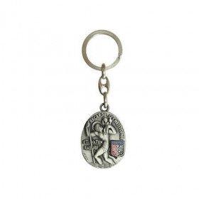 Schlüsselanhänger St. Christopher und Aufnäher von Obernai in La Boite aux