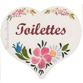 Polychrome Printed Toilet Wood Door Plate