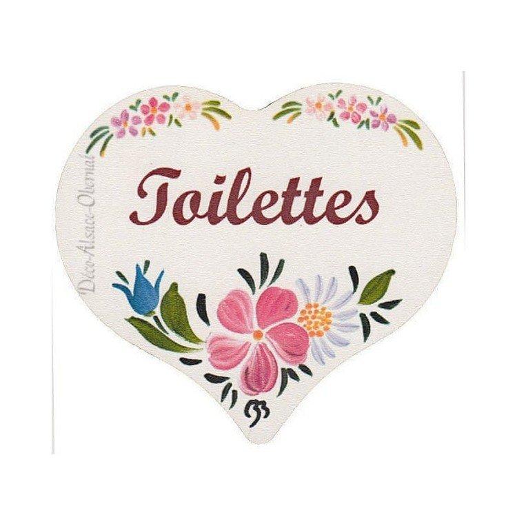 Retrouvez Plaque de Porte en Bois Toilettes imprimé façon Polychrome à Obernai