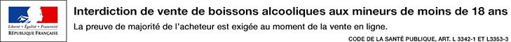 IL EST INTERDIT DE VENDRE DE L'ALCOOL À DES MINEURS DE MOINS DE 18 ANS.