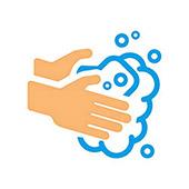 Waschen Sie Ihre Hände