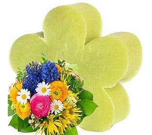 Savon forme de Coeur parfumé Bouquet Printanier Offert dès 19€ de Commande !